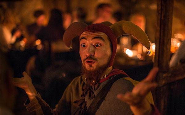 Medieval tavern prague stag premium